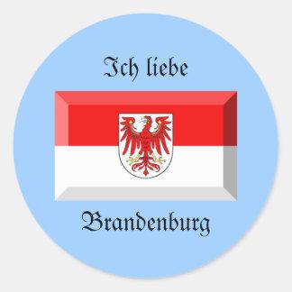 Brandenburg Flag Gem Sticker