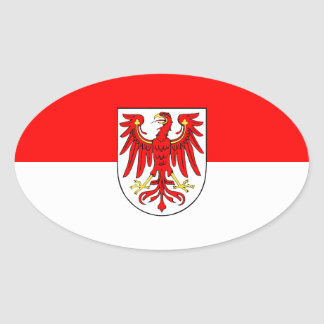 Brandenburg flag oval sticker