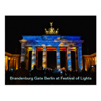 Brandenburg Gate Berlin at Festival of Lights Postcard
