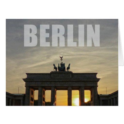 Brandenburg Gate Berlin Card Zazzle