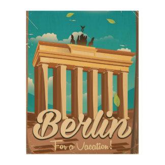 Brandenburg gate ,Berlin cartoon travel poster