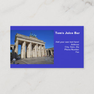 Berlin germany business cards zazzle brandenburg gate berlin germany business card reheart Gallery