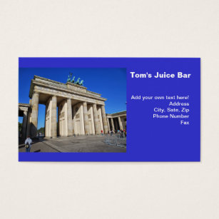 Berlin germany business cards templates zazzle brandenburg gate berlin germany business card reheart Choice Image