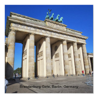 Brandenburg Gate, Berlin, Germany Invitation