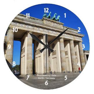 Brandenburg Gate, Berlin, Germany Large Clock