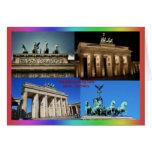 Brandenburg Gate, Berlin, Germany Montage Greeting Card