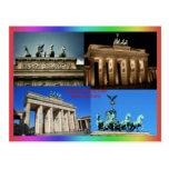 Brandenburg Gate, Berlin, Germany Montage Postcard