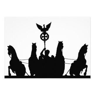 Brandenburg Gate Chariot and Columns, Berlin, Silh Announcement