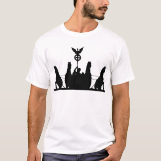 Brandenburg Gate Chariot and Columns, Berlin, Silh T-Shirt