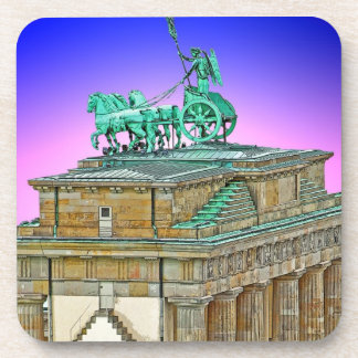 Brandenburg Gate Chariot, Berlin, Germany (bg8p2) Drink Coasters