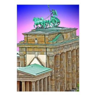 Brandenburg Gate Chariot, Berlin, Germany (bg8p2) Personalized Invite