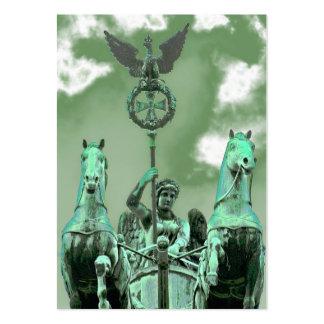 Brandenburg Gate,Horse & Chariot,Berlin,Green Sky Large Business Cards (Pack Of 100)