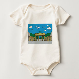 Brandenburg Gate in Berlin Baby Bodysuit