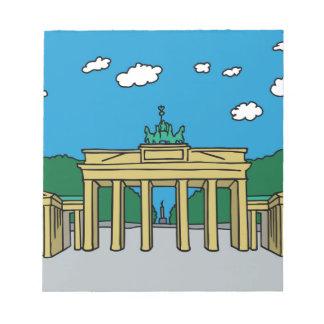 Brandenburg Gate in Berlin Notepad