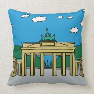 Brandenburg Gate in Berlin Throw Pillow