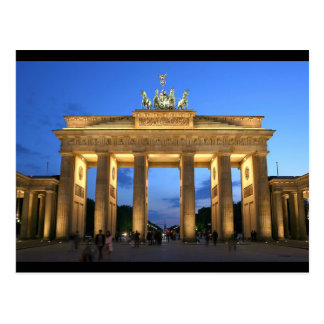 brandenburg gate night postcard