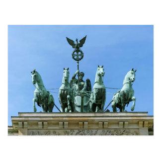 Brandenburg Gate Quadriga Berlin Postcard
