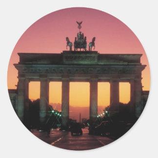 Brandenburg Gate Round Stickers
