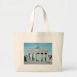 Brandenburg Gate Sketch Large Tote Bag