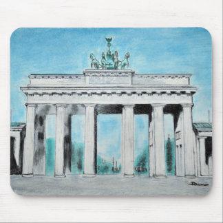 Brandenburg Gate Sketch Mouse Pad