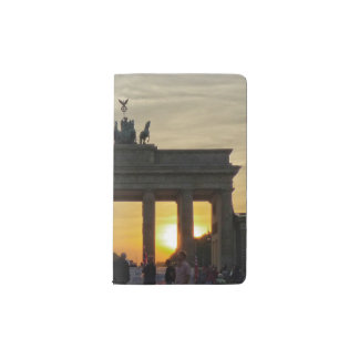Brandenburg Gate sunset, Berlin Pocket Moleskine Notebook