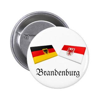 Brandenburg, Germany Flag Tiles Pinback Button