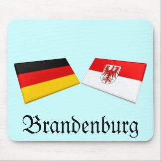 Brandenburg, Germany Flag Tiles Mouse Pad