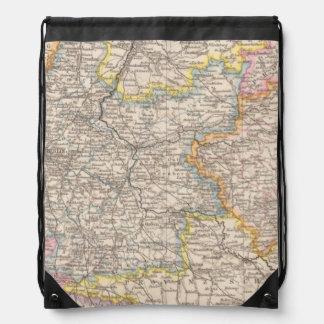 Brandenburg, Posen Atlas Map Drawstring Backpacks