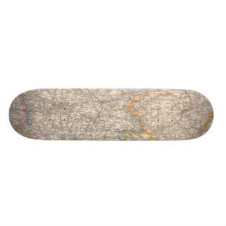 Brandenburg, Posen Atlas Map Skateboard Decks