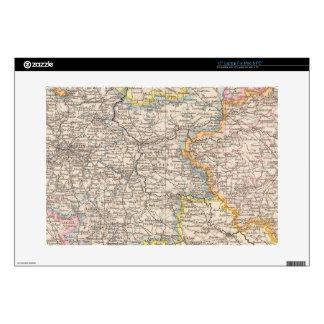 """Brandenburg, Posen Atlas Map Decal For 15"""" Laptop"""