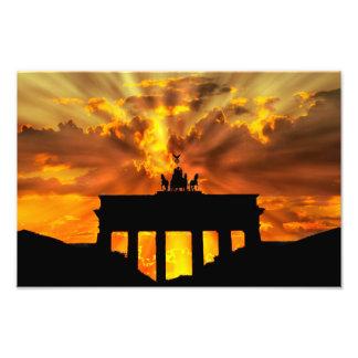 Brandenburger Gate at sunset, Berlin Art Photo