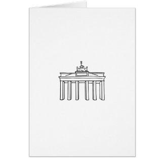 Brandenburger portería Berlín Tarjeta De Felicitación