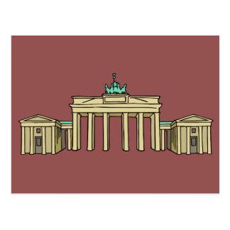 Brandenburger portería Berlín Tarjetas Postales