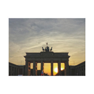 Brandenburger portería, Brandeburgo Gate sunset, B Lona Estirada Galerias