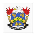 Brandford Family Crest Gallery Wrap Canvas