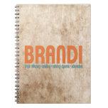 {Brandi} cuaderno conocido del significado