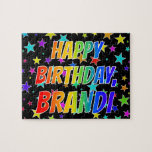 "[ Thumbnail: ""Brandi"" First Name, Fun ""Happy Birthday"" Jigsaw Puzzle ]"