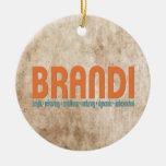 {Brandi} ornamento conocido del árbol de navidad d Ornamentos De Navidad
