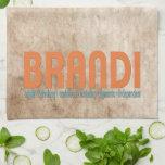 {Brandi} toalla de cocina conocida del significado