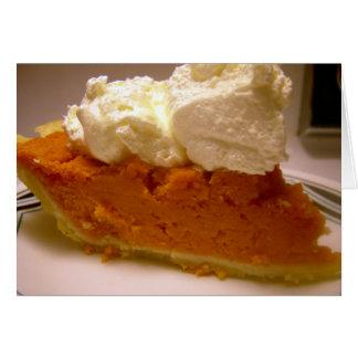 Brandied sweet potato pie greeting card