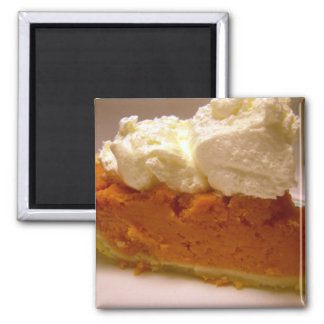 Brandied sweet potato pie 2 inch square magnet