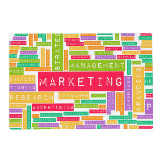 Branding and Marketing as a Business Concept Laminated Place Mat