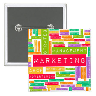 Branding and Marketing as a Business Concept Pinback Button