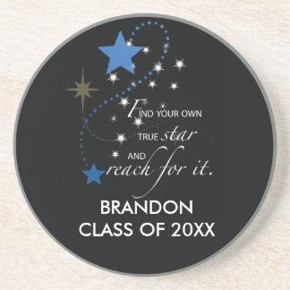 Brandon azul conocido de encargo, clase de, posavaso para bebida