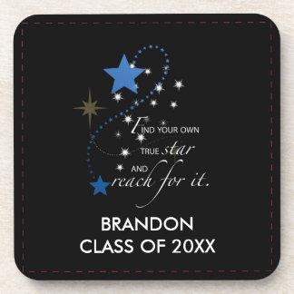 Brandon azul conocido de encargo, clase de, posavasos de bebida