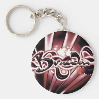 Brandon Basic Round Button Keychain