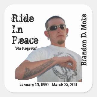 Brandon, el 10 de enero de 1990 - 23 de marzo de pegatina cuadrada