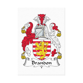 Brandon Family Crest Stretched Canvas Print