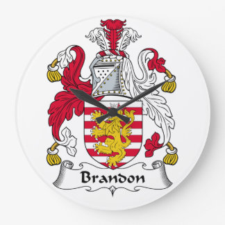 Brandon Family Crest Wall Clocks