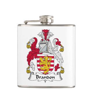 Brandon Family Crest Flasks